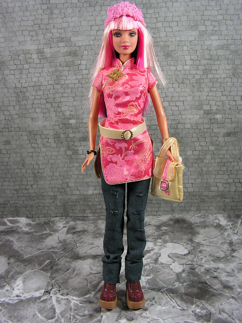 2004 Barbie Fashion Fever Wave B Tokyo Style Barbie G9008 (2)