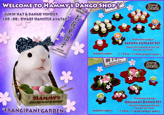 Welcome to Hammy's Ohanami Dango Shop!