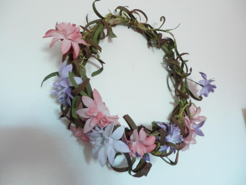 Coroa de flores handmade