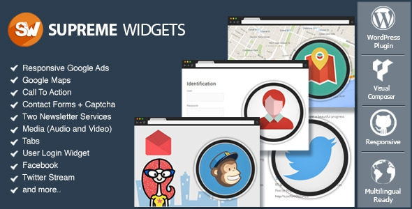 Codecanyon Supreme Widgets Social Marketing WordPress Plugin v0.1.5