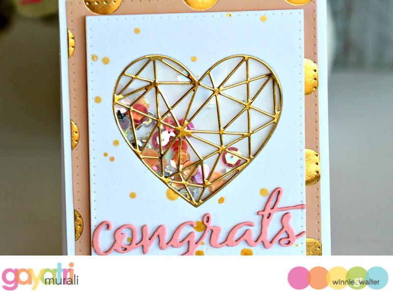 Congrats shaker card closeup #1