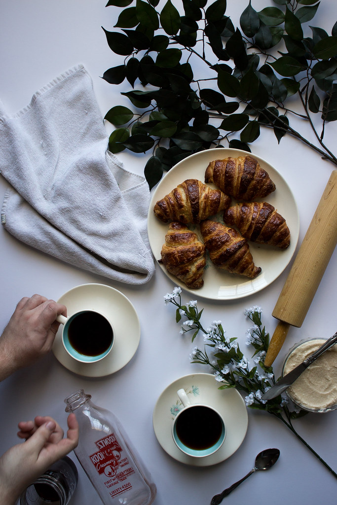 Learning to make Croissants with cold brew coffee butter + my first internship // TermiNatetor Kitchen