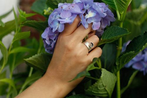 anillo, en plata