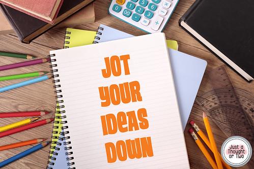 Idea Explosion write your ideas down, notebook, Evernote, Trello