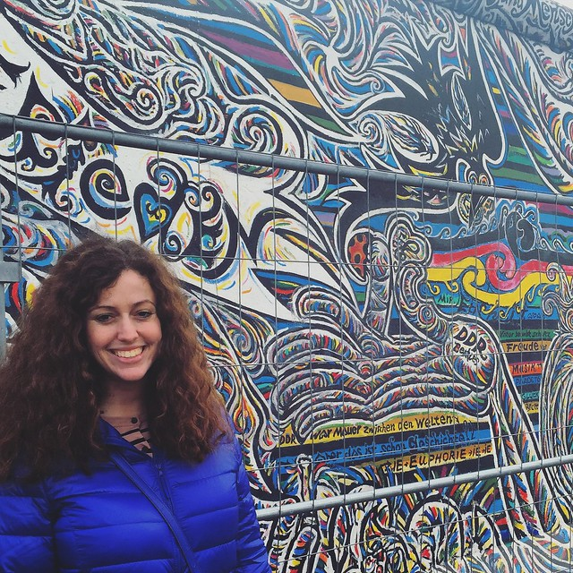 Jacqueline Drayer at the East Side Gallery