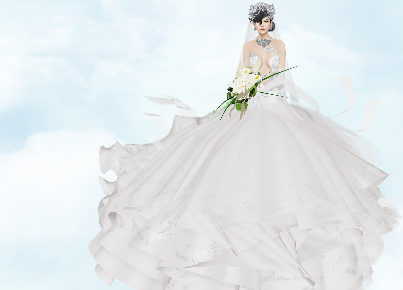 Sascha's Designs - Medusa Cream Wedding