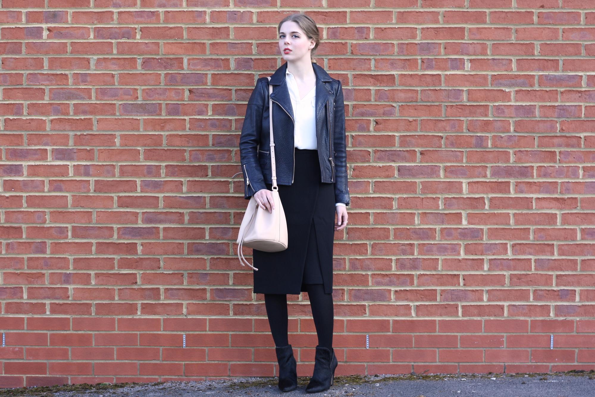 Whistles asymmetric skirt