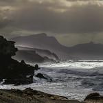 Coastline silhouette - La Pared, Fuerteventura