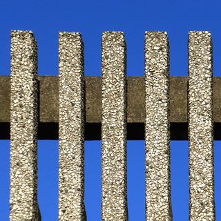 blue sky brutalism