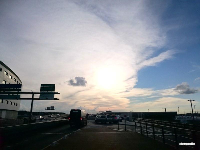 Paris spring sky