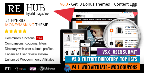 REHub v6.2.9.1 - Directory, Shop, Coupon, Affiliate Theme