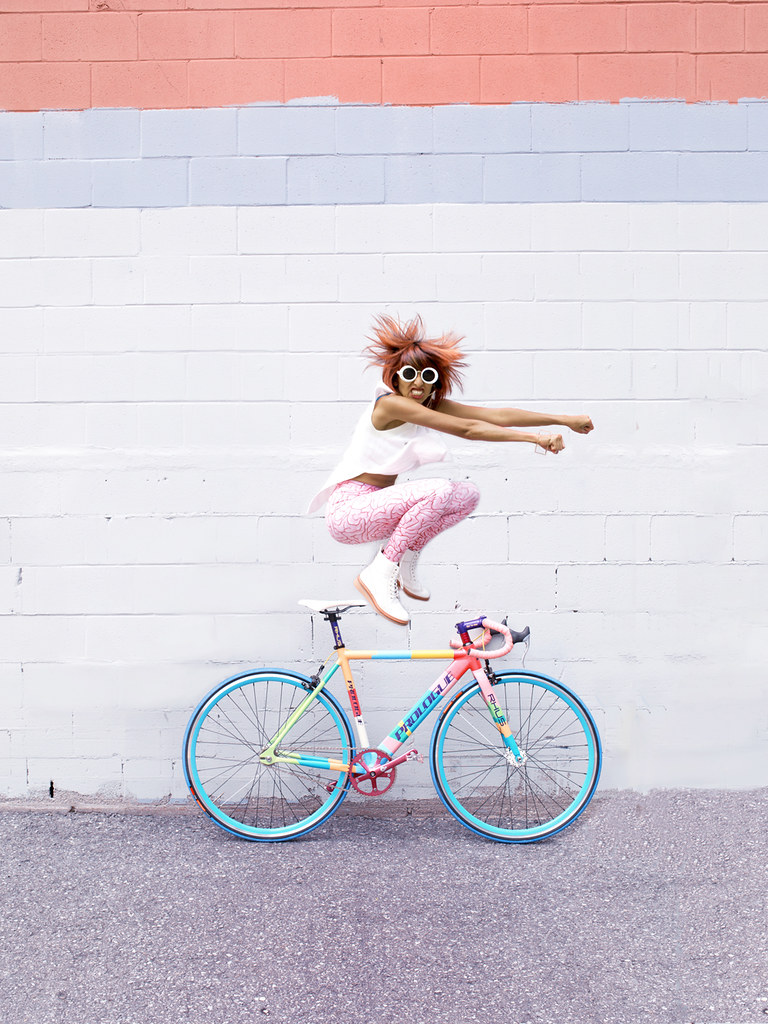 Zara and her Prologue Bicycle Jumping