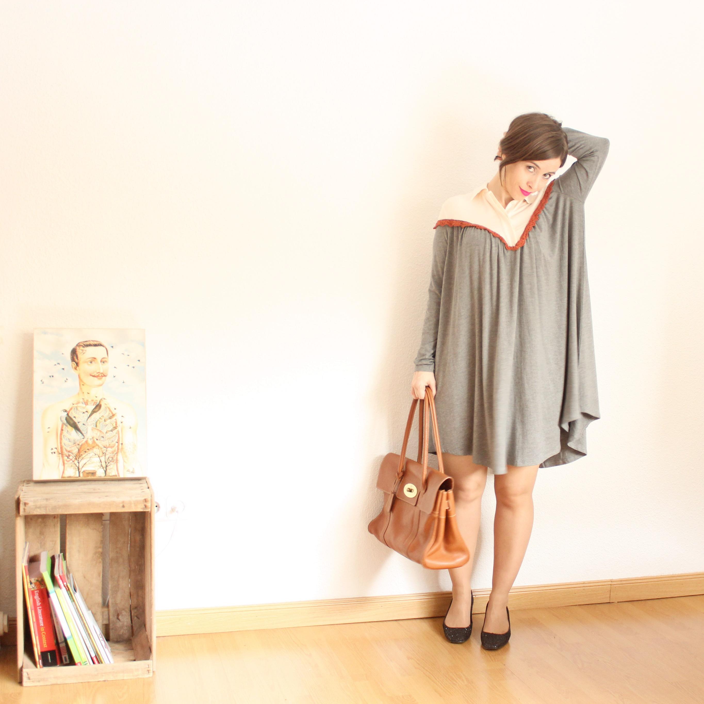 Vestido manga larga shein