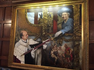 Immagine di Temple Bar. painting lordmayor ceremony queen monarch sword templebar permission ironmongershall
