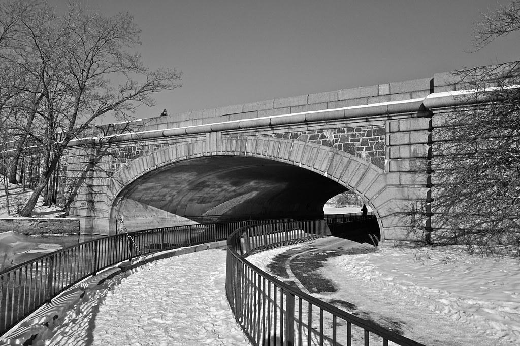 Beautiful Bridge Over Lake Calhoun Minneapolis.