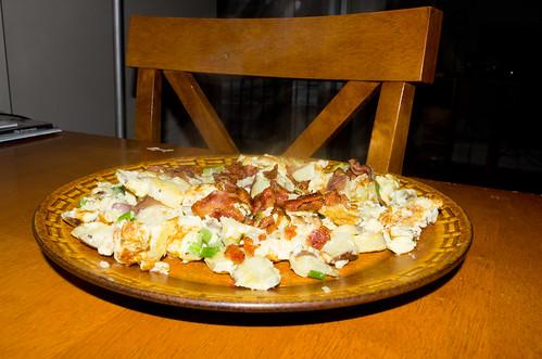 Potato Bacon Egg Scramble