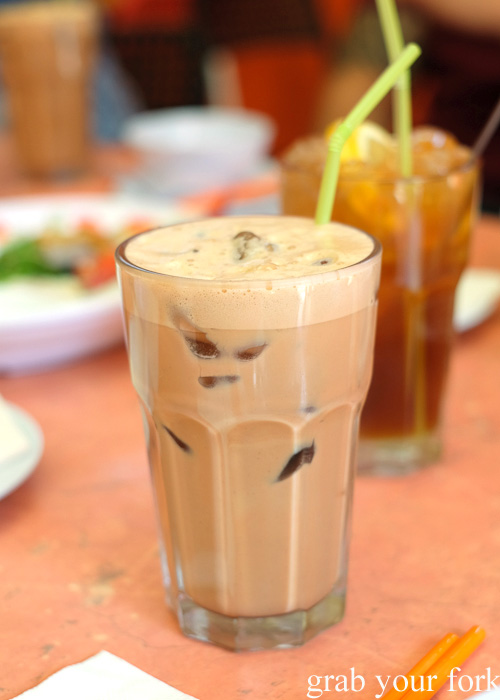 Iced teh tarik during Cheong Liew's A Few of My Favourite Things Tour for Tasting Australia 2016, Adelaide