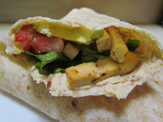 Lemon-Braised Tofu-Hummus Wraps
