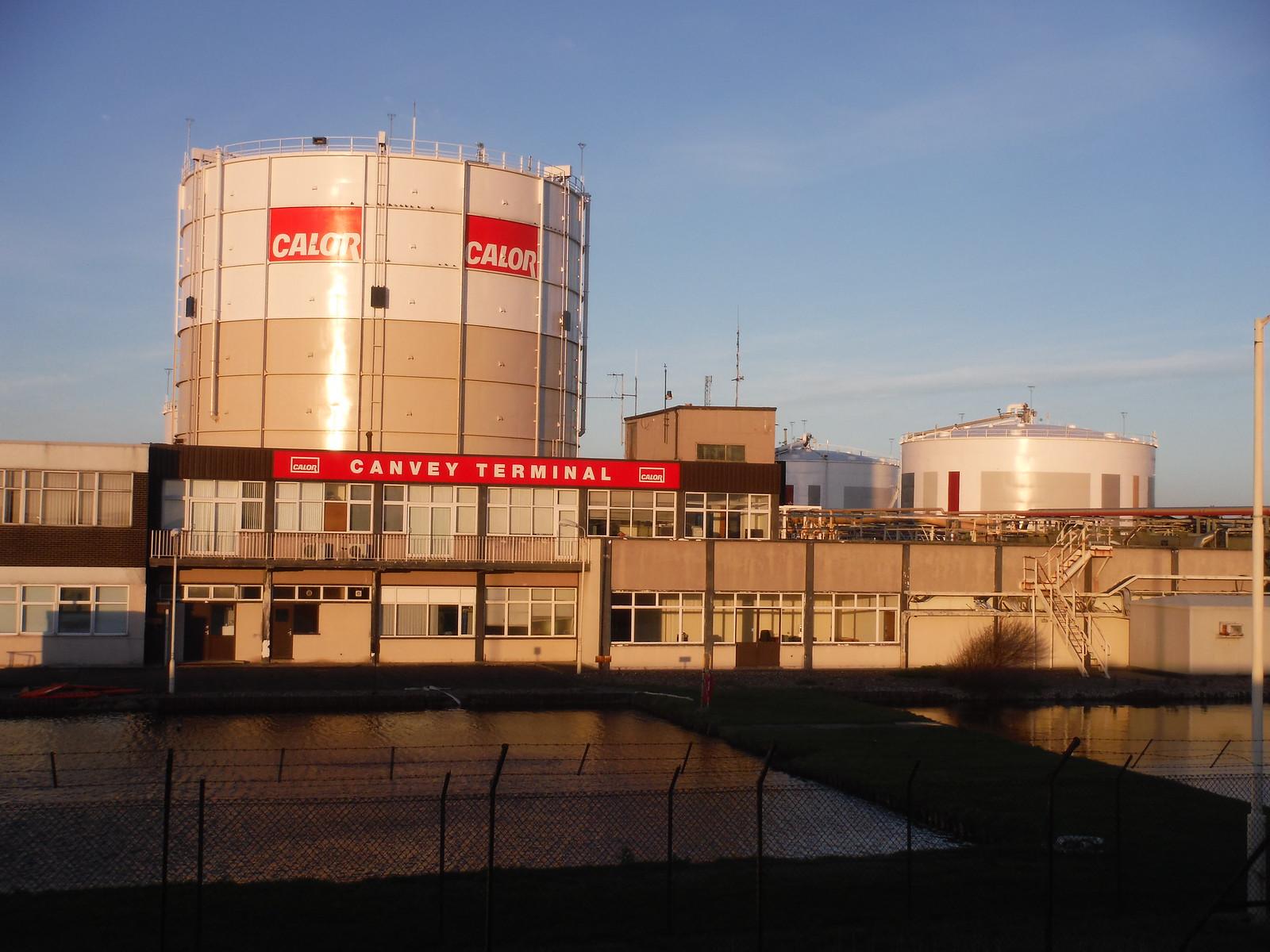 Calor Gas's LNG Terminal, Canvey Island SWC Walk 258 Benfleet Circular (via Canvey Island)