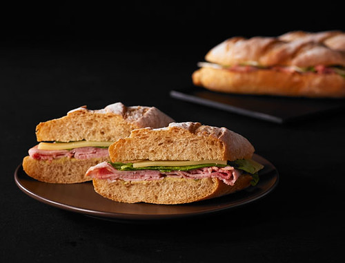 Ham-and-Cheese-on-French-Baguette