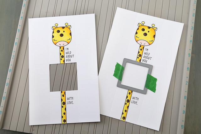 peekaboo long-necked giraffe valentines
