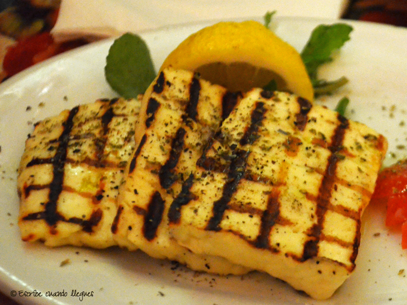 Platos griegos: Saganaki (queso frito)