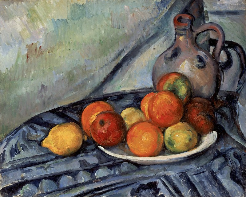 Paul Cézanne - Fruit and a Jug on a Table (c.1890)