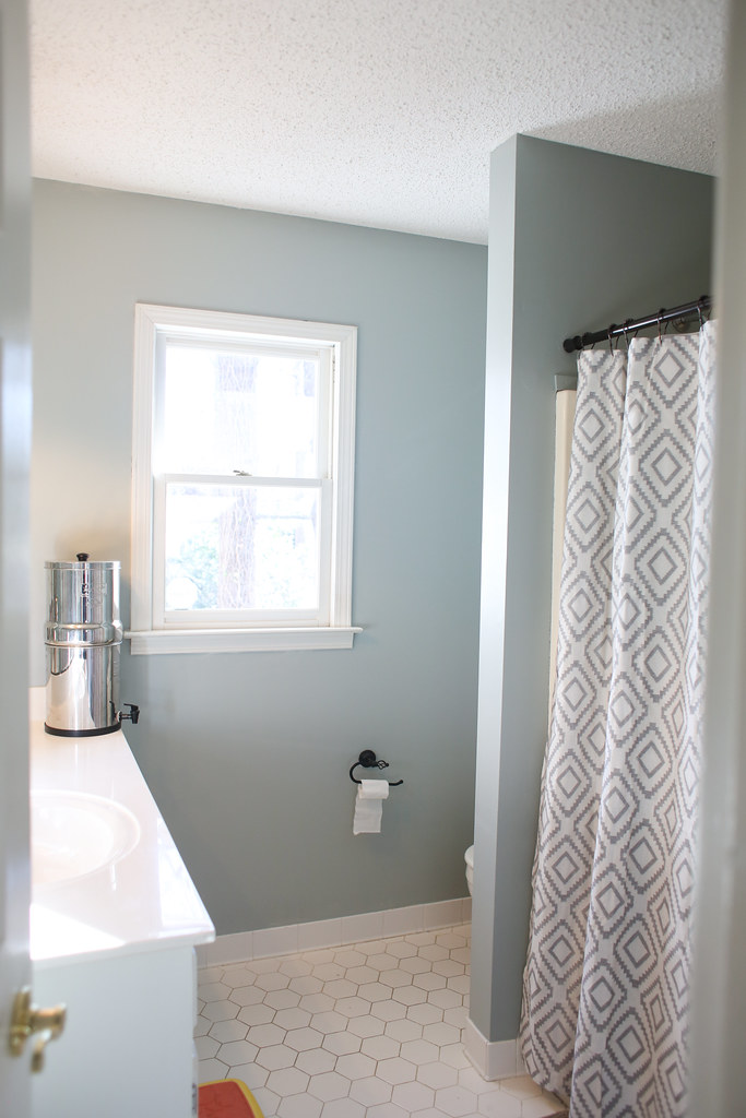 Superb Using Glidden Dusty Miller To Redo Our Guest Bathroom