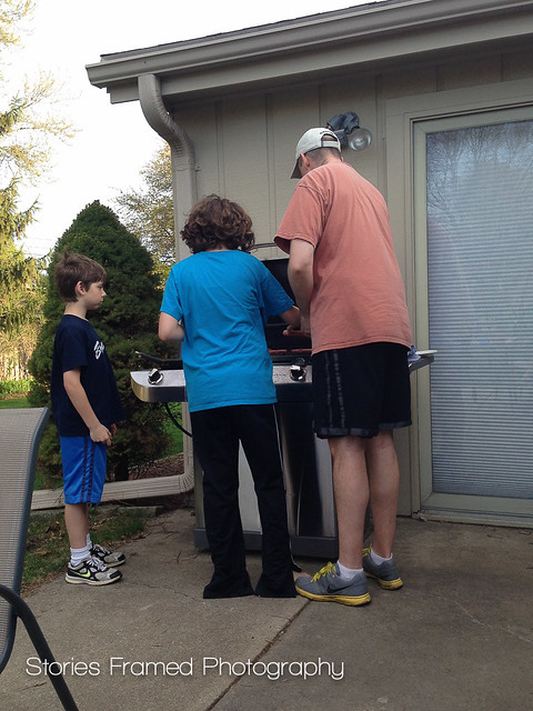 123. family grilling time.