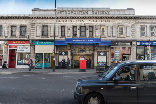 Cab at Paddington Station