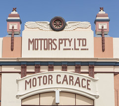 Garage facade, Launceston, Tasmania