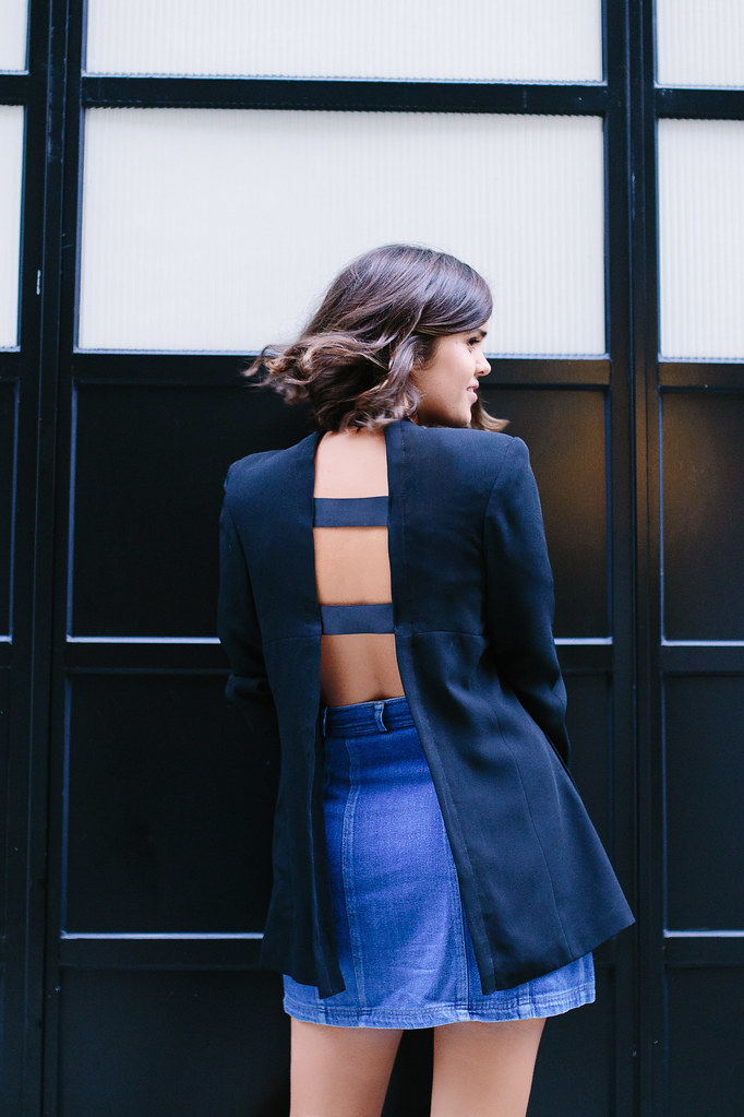 DIY Open Back Blazer