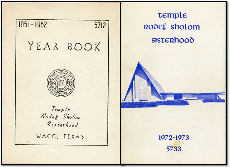 Rodef Sholom Sisterhood yearbooks, 1951-1952, 1972-1973
