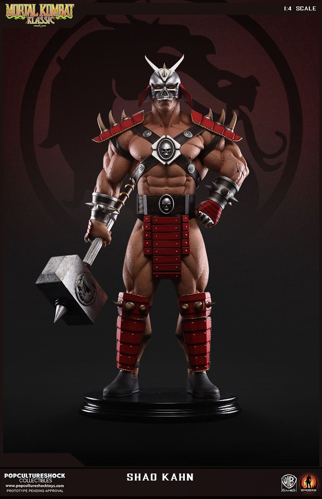 Pop Culture Shock Collectibles 真人快打【紹.可汗】Shao Kahn 1/4 比例 全身雕像