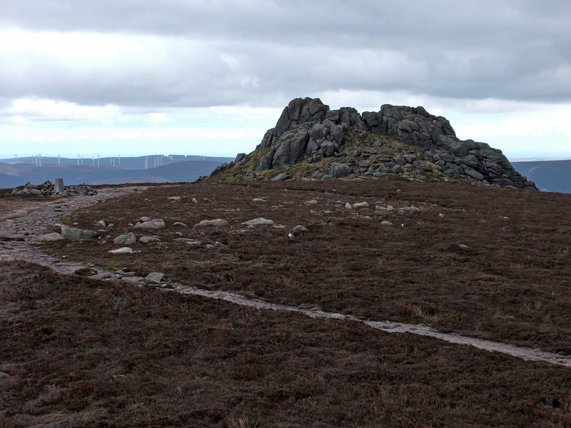 Clachnaben Trig Point and Tor