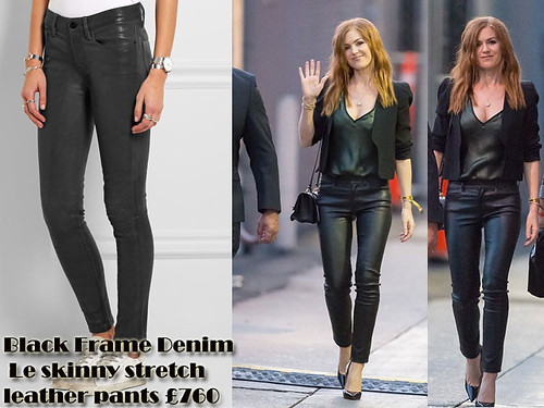 Black Frame Denim Le skinny stretch leather pants with a blazer: How to wear