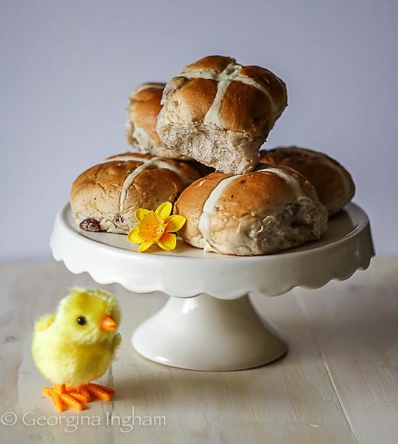Georgina Ingham | Culinary Travels Photograph - Traditional Hot Cross Buns BBC Good Food Recipe