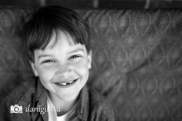 Lucas smiling