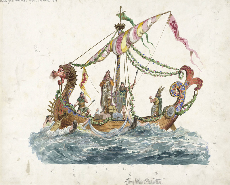 Carlotta Bonnecaze - King Rother's departure, float design from Krewe of Proteus, 1888
