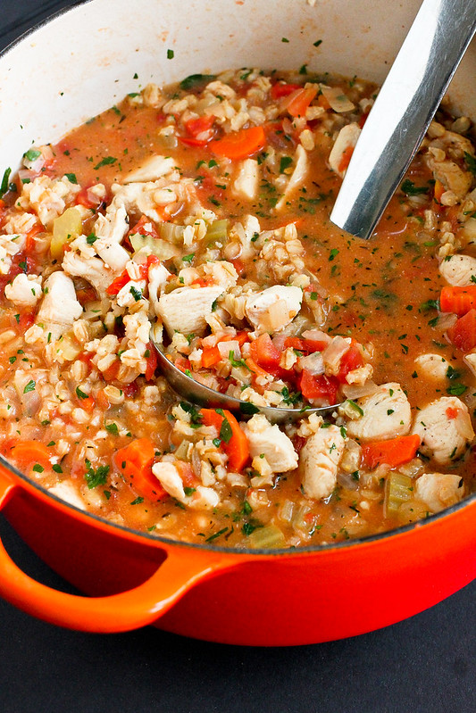 Hearty Chicken Stew with Barley...A healthy comfort food recipe for any time of the year! 196 calories and 4 Weight Watchers Freestyle SP