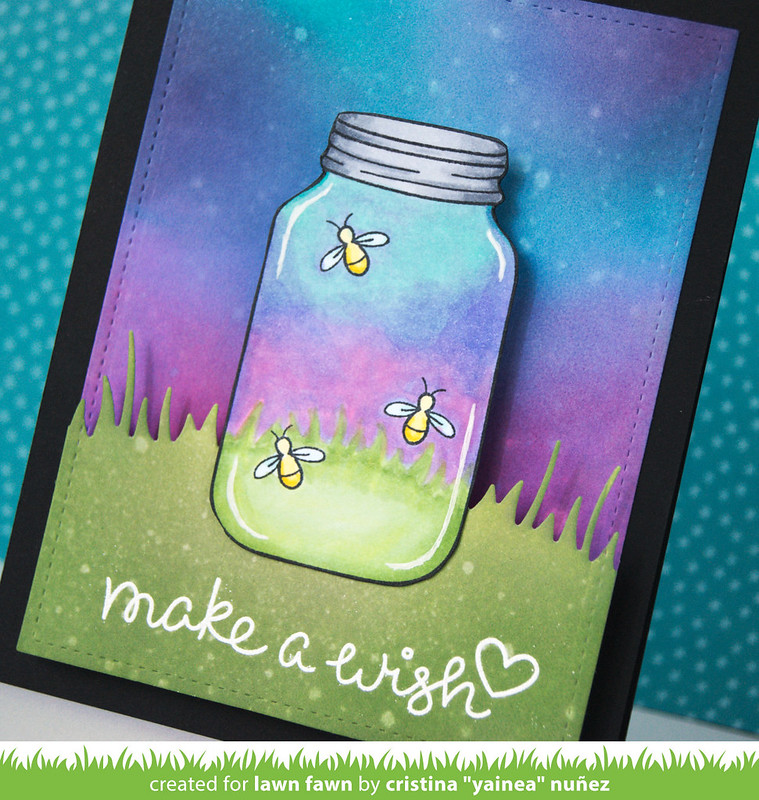Make a wish LED card - detail