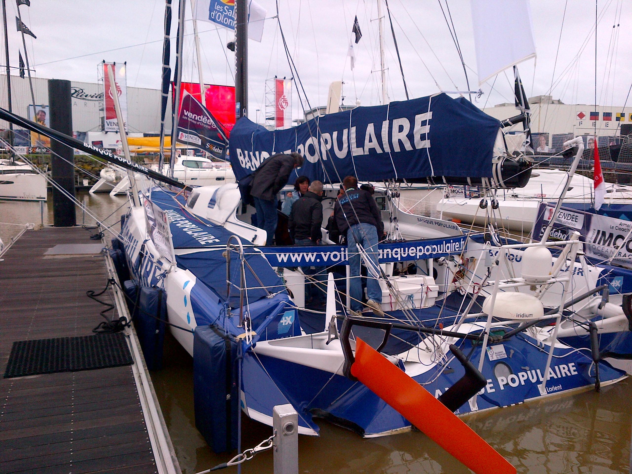 Armel sur les pontons du Vendée Globe  - 20/10/2012 - BPCE