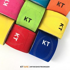 You wouldnt stick with the same workout routine — why wear the same color #kttape?