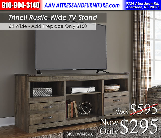 Trinell Wide TV stand RWB