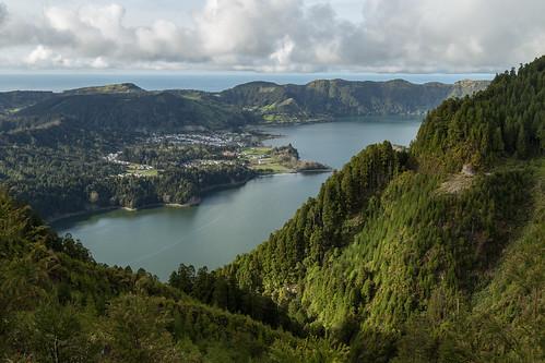 trees lake portugal landscape sete atlantic azores cidades