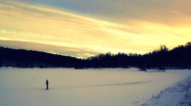 Зимний вечер в Царицыно