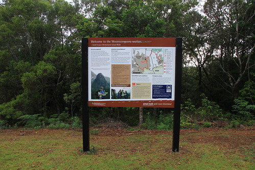 澳洲昆士蘭-Lamington NP the Woonoongora section解說看板-20141121-賴鵬智攝-1