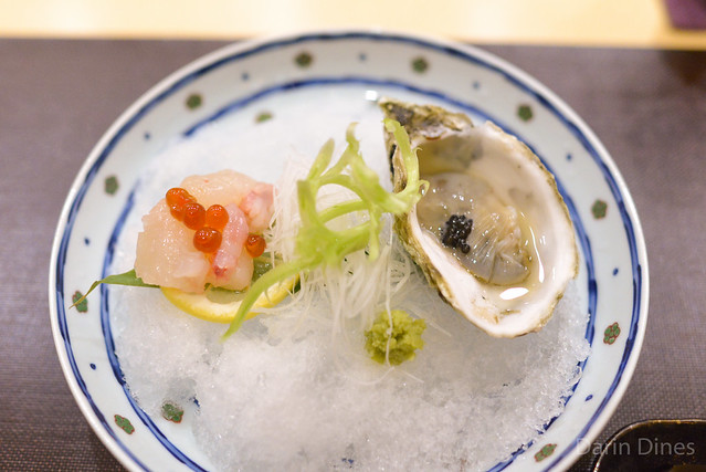 Maine Lobster with Salmon Roe; Oyster with Osetra Caviar