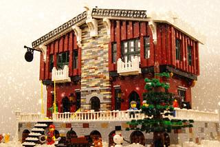 Ski Chalet (Lego MOC) 1