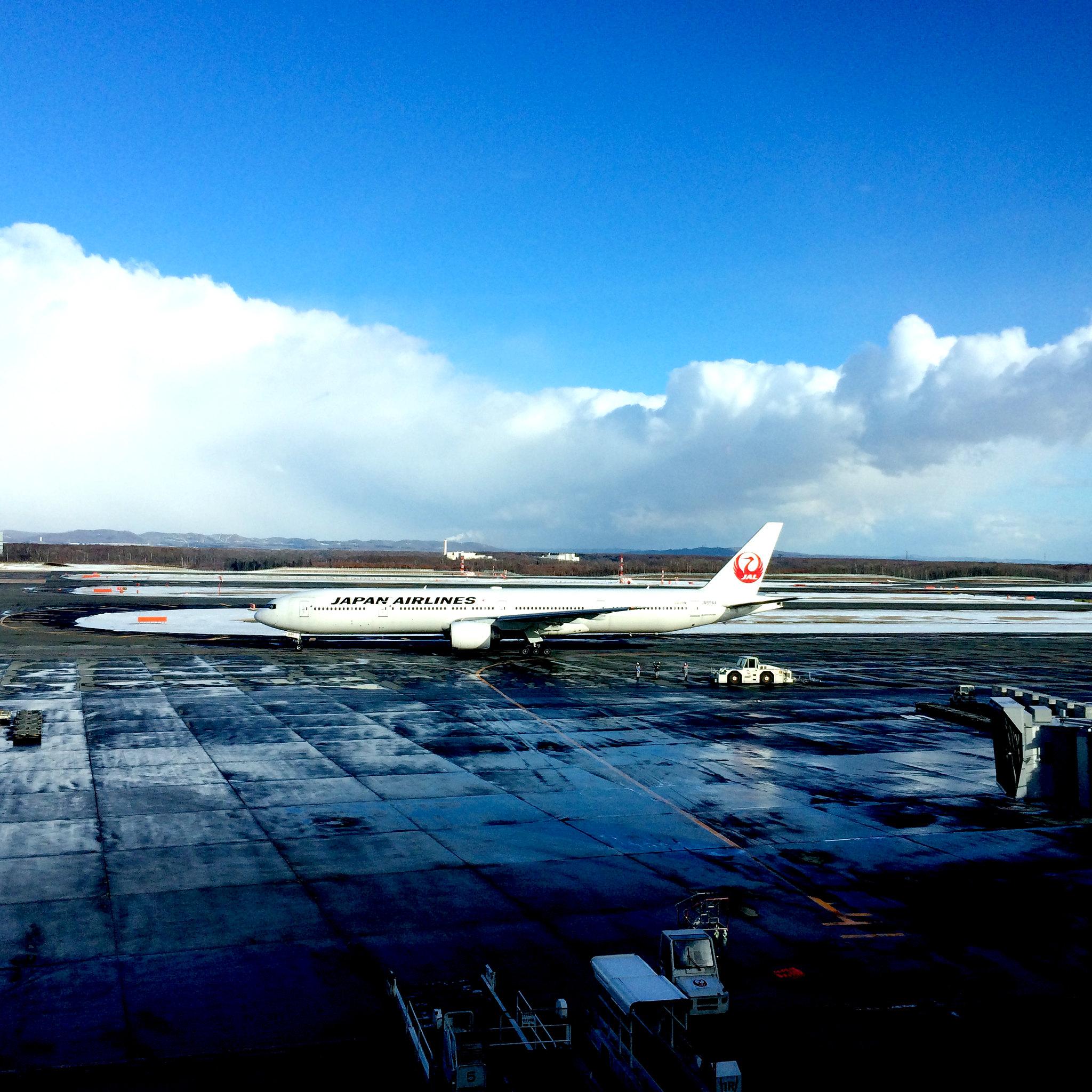 Japan AirLineの本番前